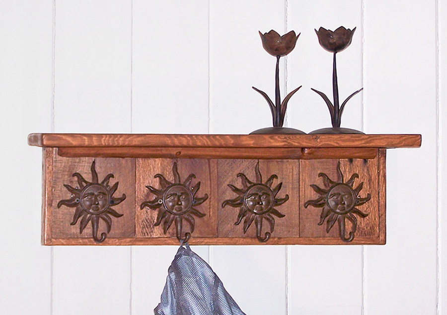 wall mounted coat rack with sun coat hooks