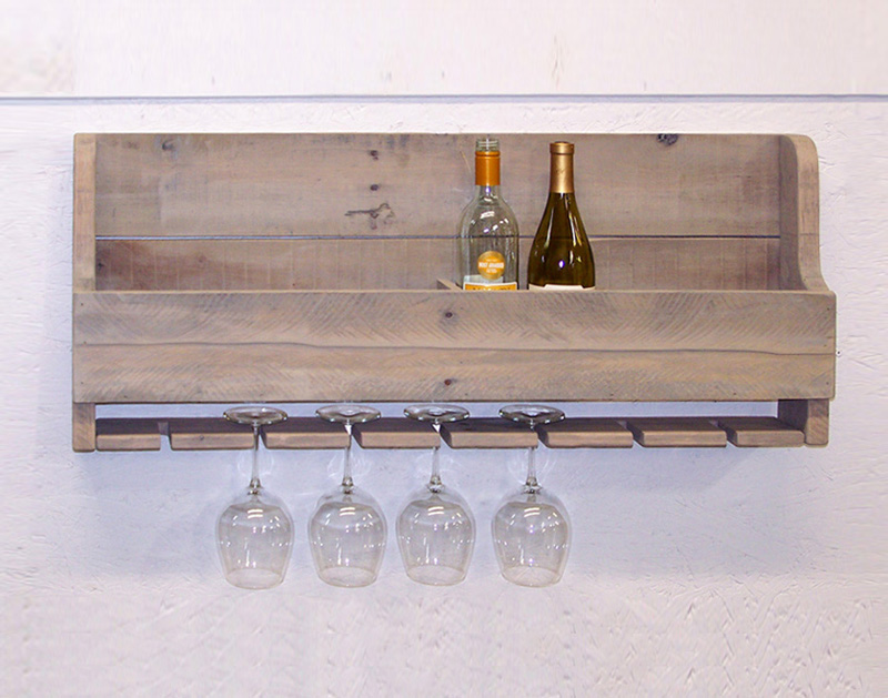 wine rack long driftwood